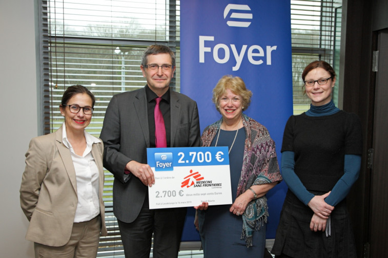 Foyer soutient l association m decins sans fronti res for Le foyer luxembourg