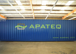 OilPaq module in 40' shipping container