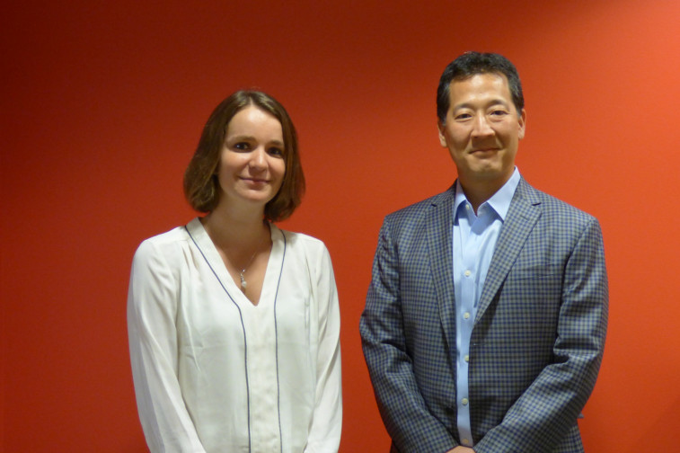 Virginie SImon CEO MyScienceWork & William Park CEO Deepdyve