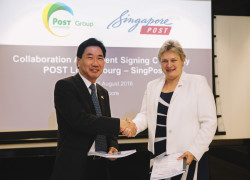 Signing of strategic collaboration between POST Luxembourg and SingPost