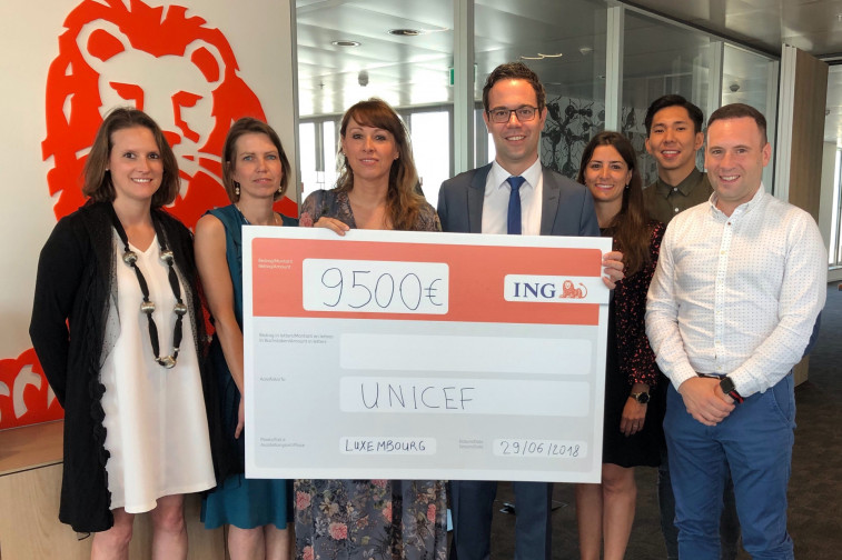 Eur 9 500 to support unicef luxembourg ! merkur corporatenews