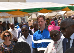 Sr. Catherine Mutindi and Mr. Benedikt Sobotka at the opening of inaugural Bon Pasteur child protection centre in Kolwezi September 2019 (002)